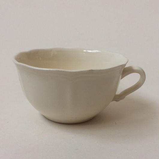 1970年代 サルグミンヌ ティーカップ 花リム クリーム色 6