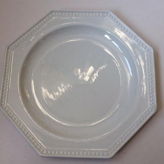 19世紀 モントロー デザートプレート 中皿 オクトゴナル パールリム 5