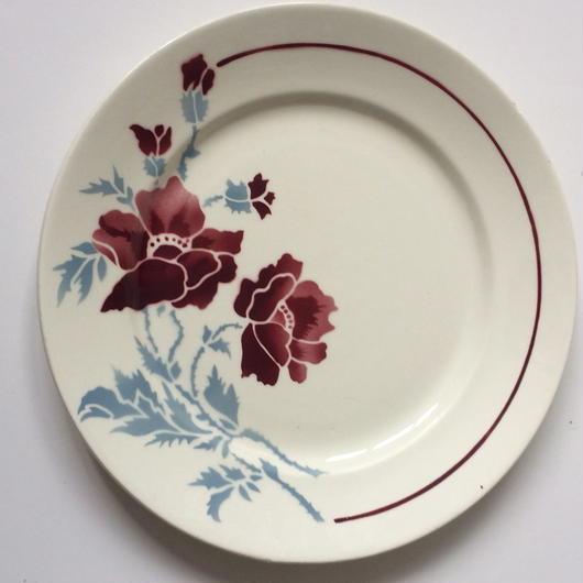 アシエット プレート お皿 バドンヴィレー エロン 野バラ柄 4