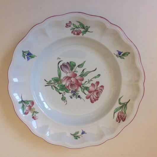 19世紀後半 リュネヴィル お皿 アシエット プレート お花柄