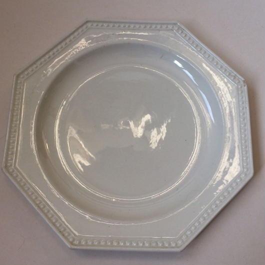 19世紀 モントロー デザートプレート 中皿 オクトゴナル パールリム 2