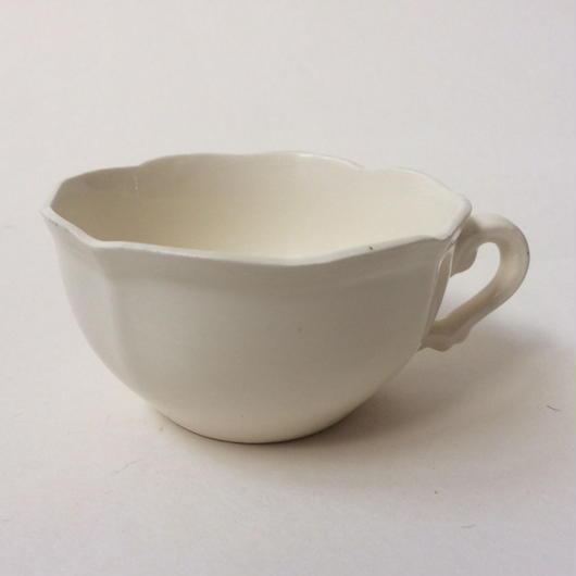 1970年代 サルグミンヌ ティーカップ 花リム クリーム色 5