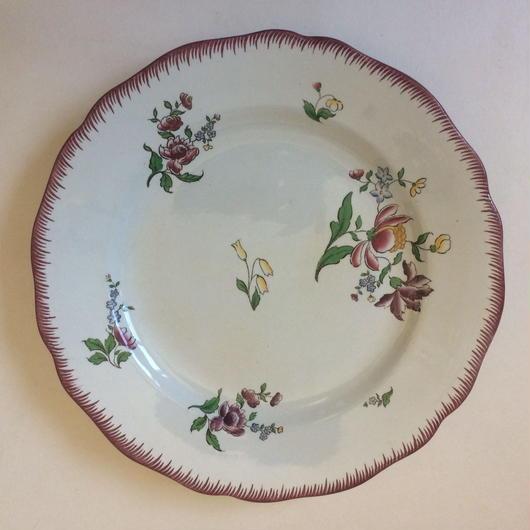 19世紀後半 サルグミンヌ お皿 ディナープレート アシエット ストラスブール 2