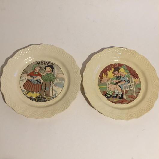 19世紀後半 アシエット・パルラント おしゃべりなお皿 子供柄