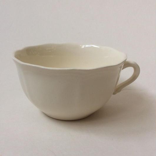 1970年代 サルグミンヌ ティーカップ 花リム クリーム色 4