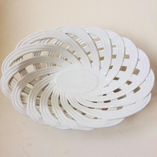 1930年代 コルベイユ 陶器 パンかご 白 2