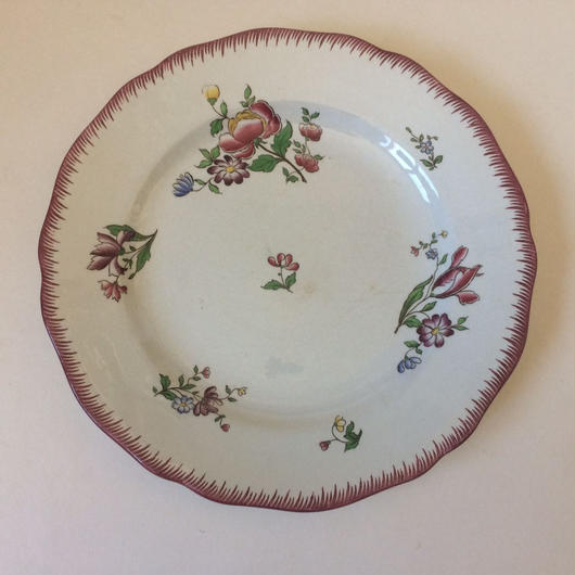 19世紀後半 サルグミンヌ お皿 ディナープレート アシエット ストラスブール 1