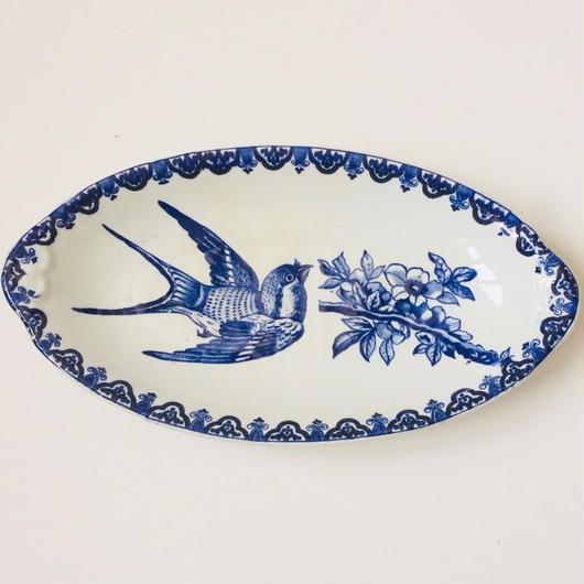 19世紀後半 HB ショワジー・ル・ロワ ラヴィエ オードブル皿 ジャポネ つばめ柄