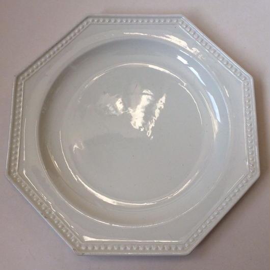 19世紀 モントロー デザートプレート 中皿 オクトゴナル パールリム 3