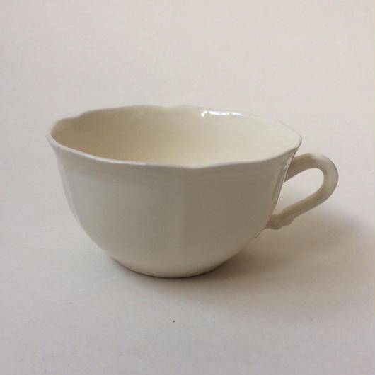 1970年代 サルグミンヌ ティーカップ 花リム クリーム色 2