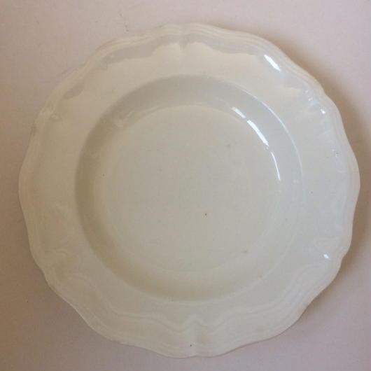 1920年代 サルグミンヌ アシエット スープ皿 花リム  3