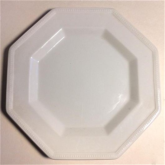 1970年代 ジョンソン・ブラザーズ ヘリタージュ・ホワイト オクトゴナル デザート・プレート 小皿 単品 1