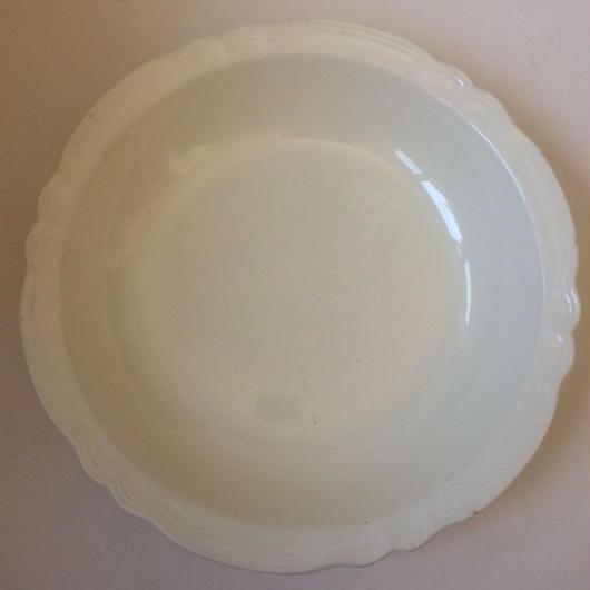 1920年代 サルグミンヌ サラディエー 大皿 花リム クリーム色