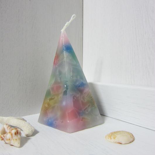 五角錐キャンドル モザイク2
