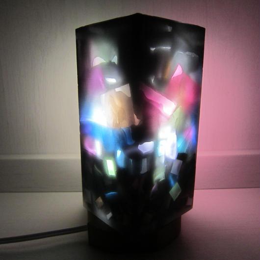 ランプシェードキャンドル カラーチップグラデーション