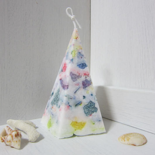 五角錐キャンドル パーム モザイク