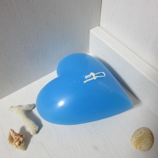 ハートキャンドル ブルー