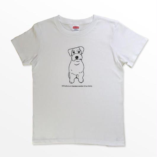 イヌは家族Tシャツ / シュナウザー/サイズ、カラーオーダー可能