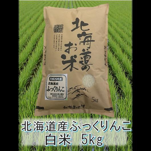 平成29年 北海道産 ふっくりんこ  白米 5kg