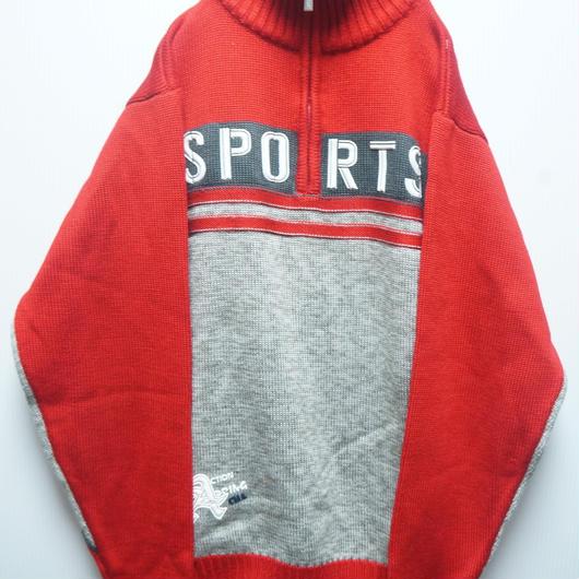 USED SPORTSハーフジップセーター
