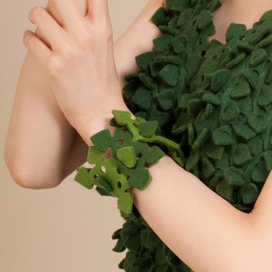 葉っぱブロックブレスレット1
