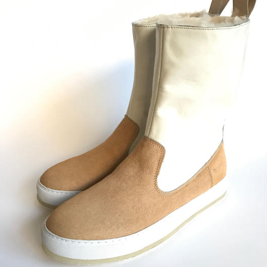 Pony & Mouton Engineered Boot BEIGE