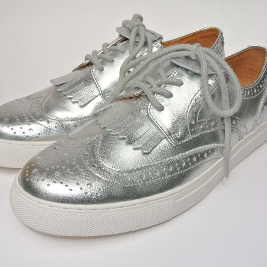 Wing Tip Sneaker SILVER