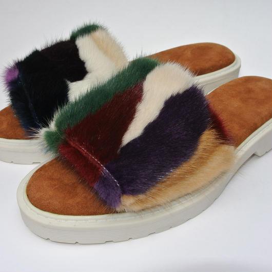 Mink Fur Sandal MULTI
