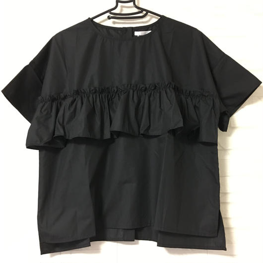 フリルバッグボタンシャツ
