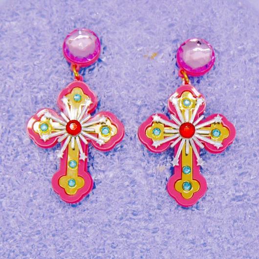 Cross piercings/earrings