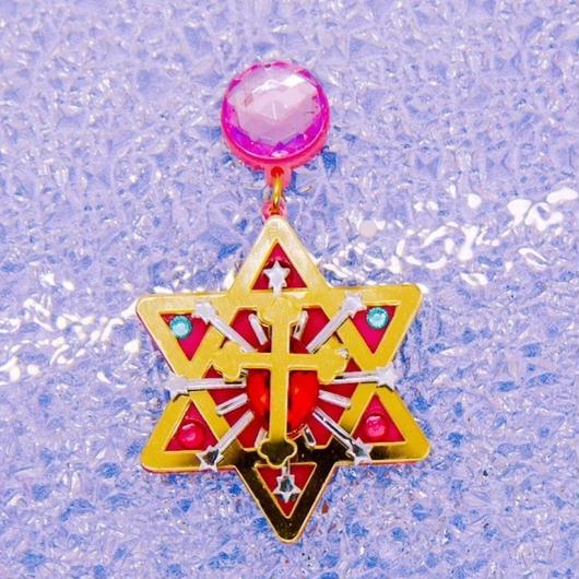 六芒星【Hexagonal star】piercing/earring for one ear