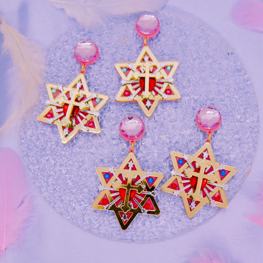 六芒星【Hexagonal star】piercings/earrings