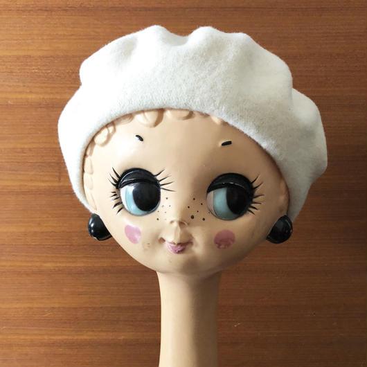 ムフ刺繍ベレー帽*rukkilill(ヤグルマギク)