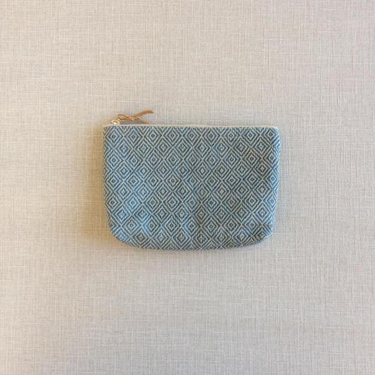 【次回6月再入荷】手織り布のメイクポーチ (Indigo bird's-eye)