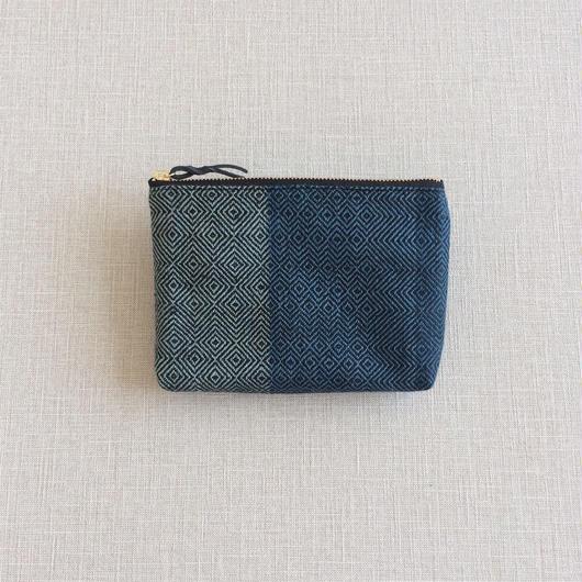 手織り布のポーチ16cm No.1 ( Sazanami)