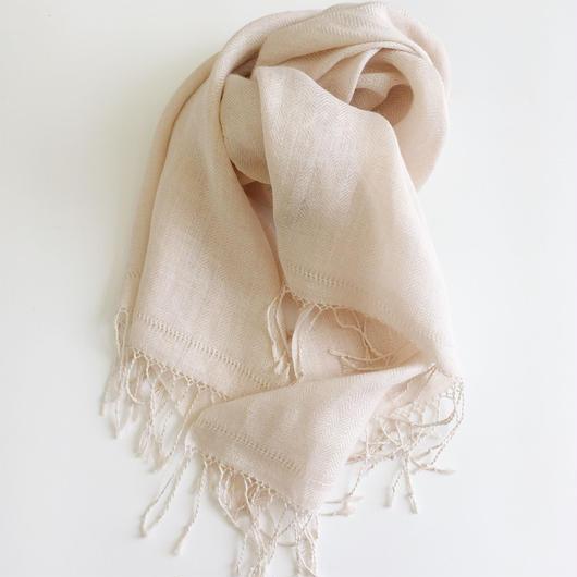 手織りリネンショール ( linen shawl)