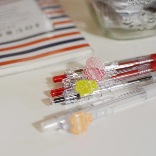 ゲルボールペン(赤)(青)