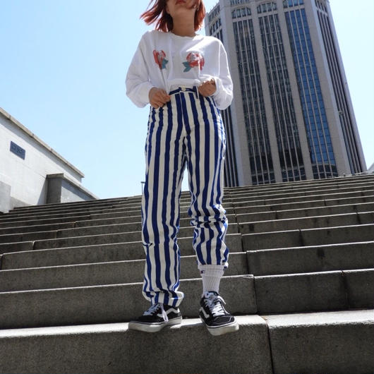 straight pants stripe
