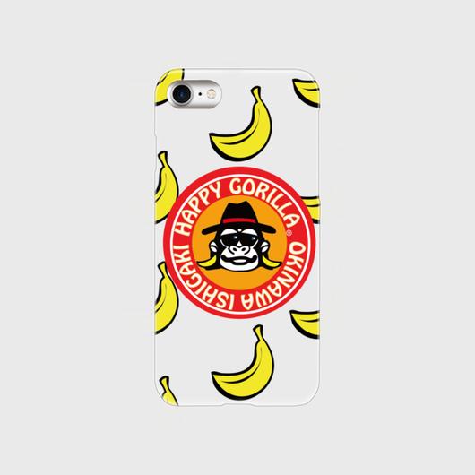 iPhone7 ハッピーゴリラスマホケース (クリアオレンジ)