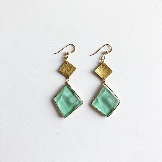 stained glass original brass/ピアス/イヤリング