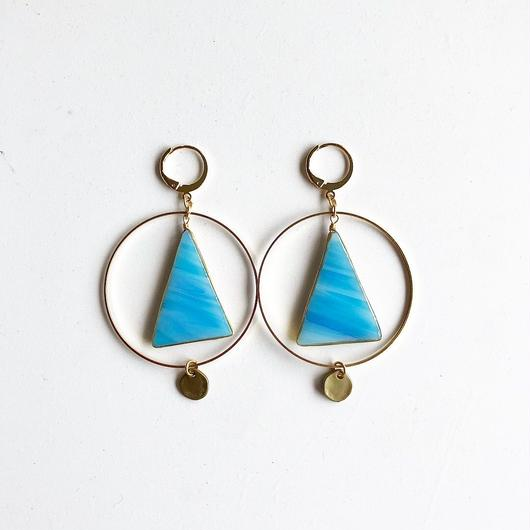 stained glass yurali/ピアス/イヤリング