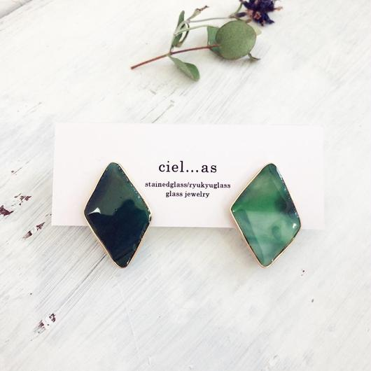 stained glass simple/14kgf ピアス/イヤリング