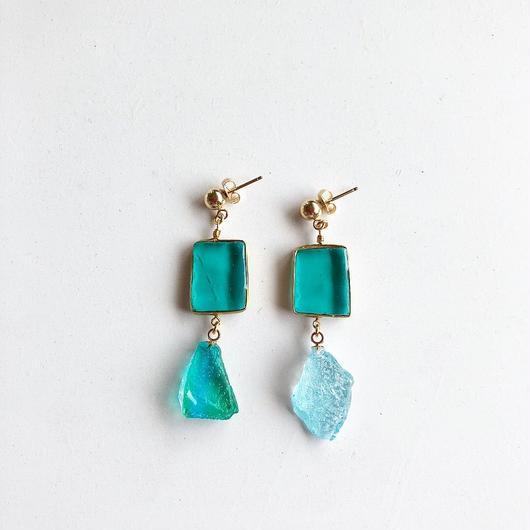 stained glass yurali/pierce/earring