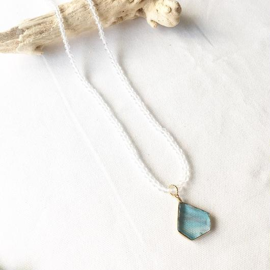 stained glass/crystal necklace