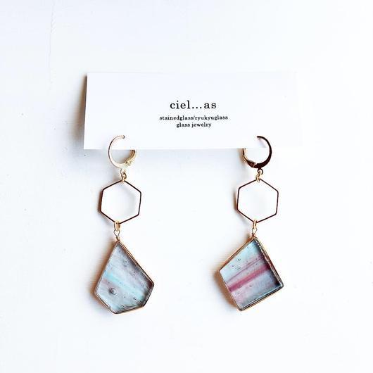 stained glass yurari/ピアス/イヤリング