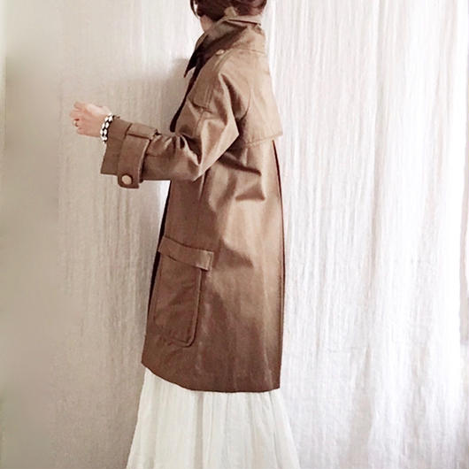 BOUTIQUE      cotton trench coat     /COGNAC BROWN