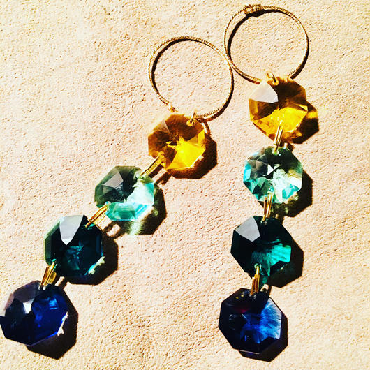 BOUTIQUE  Swarovski pierced earrings  TZ-3400 /LAKE AND LIGHT
