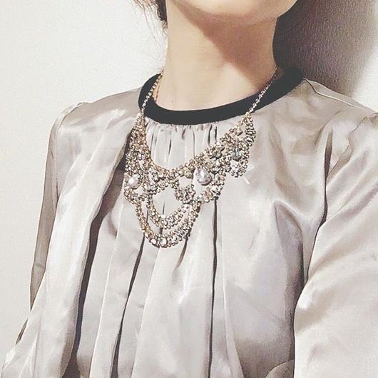 rhinestone necklace TZ-2702