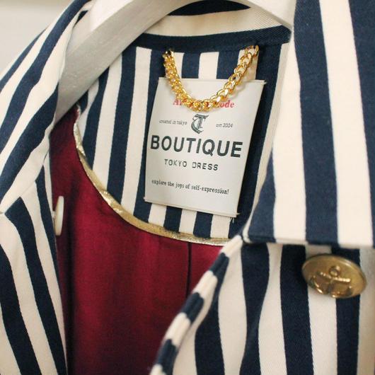 BOUTIQUE stripe coat TO-2800