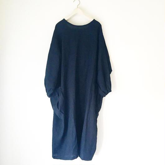 終了しました《予約販売》BOUTIQUE X AOYA L  linen atelier coat(割烹着) TA-AP-02bag付き